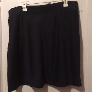 Talbots Navy casual skirt